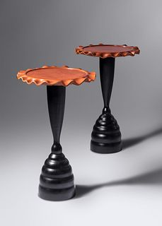 Peter Dudley (b. 1962) Pair of Pedestal Tables, 2001