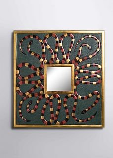 Judy Kensley McKie (b. 1944) Snake Mirror, 1993