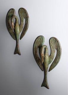 Judy Kensley McKie (b. 1944) Swan Sconces, 1994 Artworks Foundry, USA Edition of 32