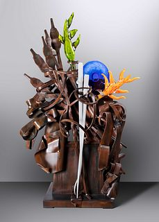 Albert Paley (b. 1944) Untitled Sculpture, 2009glass elements executed by Martin Blank