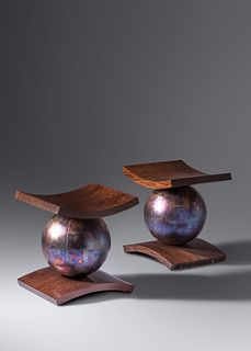 Wendell Castle  (1932-2018) Two Stools, 1992