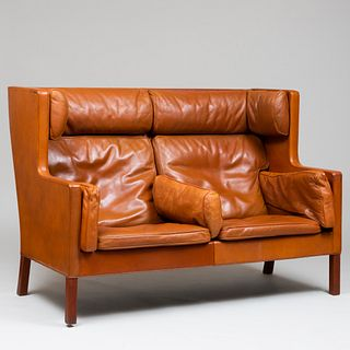 Borge Mogensen Leather Upholstered Settee