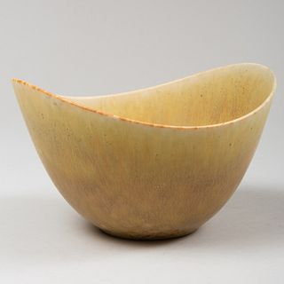 Gunnar Nyland 'Hares Fur' Glazed Stoneware Bowl for Rorstrand