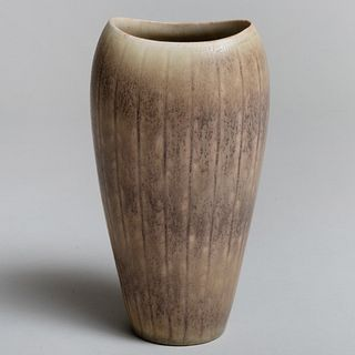 Gunnar Nyland 'Hares Fur' Glazed Stoneware Vase for Rorstrand