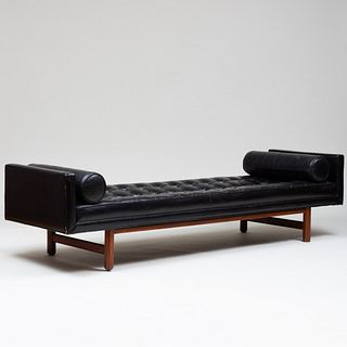 Leather Chaise, Attributed to Dunbar
