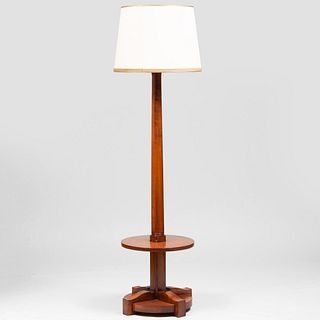 French Mid-Century Tulipwood Floor Lamp