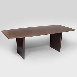 Edward Wormley Walnut Extension Dining Table for Dunbar