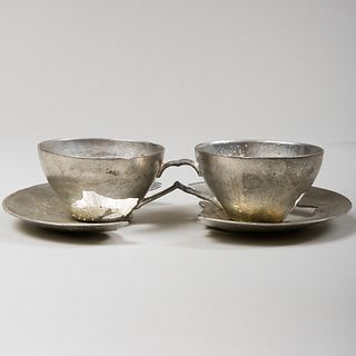 David Clarke (b. 1967): Double Teacup from What is Not Collection
