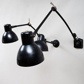 Three Christian Dell Enameled Metal Wall Lights for Kaiser Idell