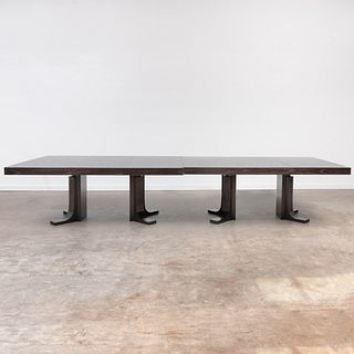 Two Contemporary Ebonized Ash Dining Tables
