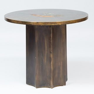 Philip and Kelvin LaVerne Patinated Metal 'Picasso' Table