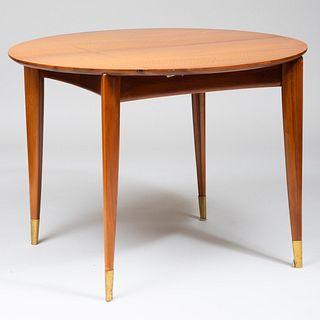 Gio Ponti Mahogany Extension Dining Table