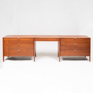 Pair of Florence Knoll Chests of Drawers and Vanity Drawer