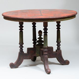 Carved and Painted Center Table