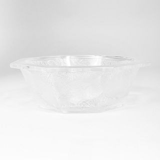 Lalique Glass 'Caille Perdrix' Bowl