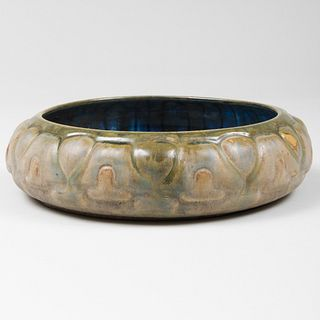 Fulper Pottery Crystalline Glazed Low Bowl