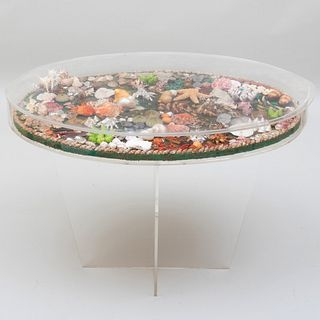 Lucite Seashell Table
