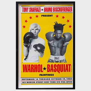 After Andy Warhol (1928-1987) and Jean-Michel Basquiat (1960-1988): Warhol-Basquiat Poster