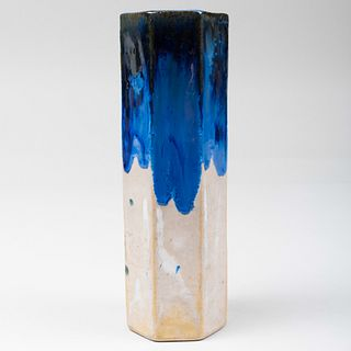 Fulper Pottery Glazed Faceted Vase