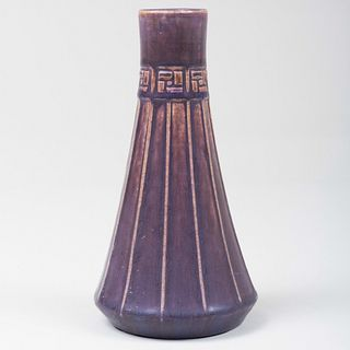 Rookwood Pottery Purple Glazed Faceted Bud Vase