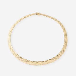 A fourteen karat gold necklace, Italy