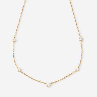 An eighteen karat gold and diamond necklace,