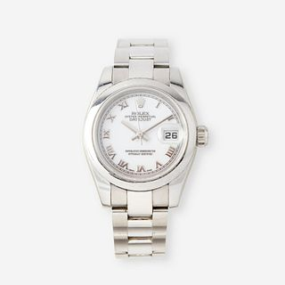A ladies stainless steel automatic, bracelet wristwatch with date, Rolex, Datejust