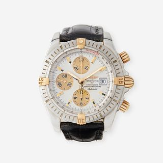 A stainless steel automatic, chronograph, strap wristwatch with date, Breitling,