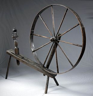Early 19th C. American Wooden Walking Wheel