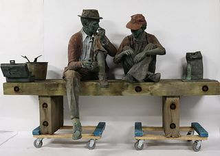 "Seward Johnson (American 1930 - 2020). ""FISHING"""