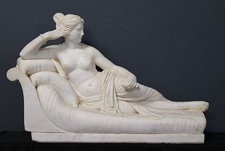 Monumental Antique Marble Sculpture Of A
