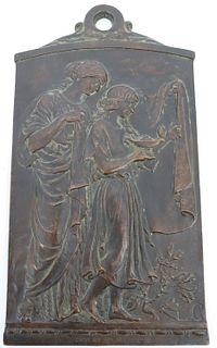 L.C. Monogrammed Art Bronze Foundry Chicago