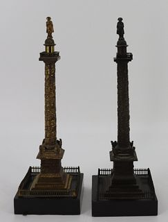 2 Bronze Grand Tour Models Of Nelsons Column