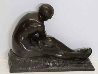 Susse Freres Foundro Bronzre Sculpture Of A Nude.