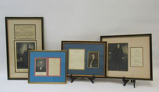 Group of 4 Signed U.S. President Items With Images