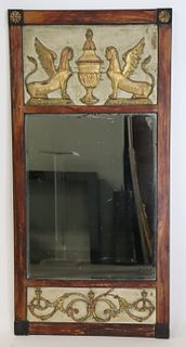 Antique Egyptian Revival Trumeau Style Mirror