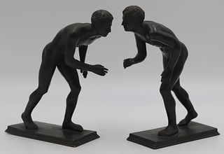Pair of 19th C Grand Tour Models of Athletes.