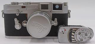Vintage Leica M3-758635 Camera and Leica-Meter.