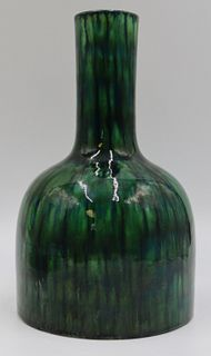 Antique Chinese Green Glaze Vase.