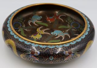 Chinese Cloisonne Fish Bowl.