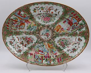 Chinese Export Enamel Decorated Serving Platter.