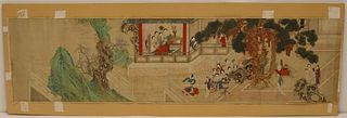 Framed Asian Scroll Painting.