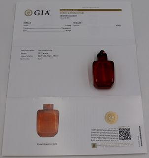 Amber Snuff Bottle, GIA no. 1216430252.