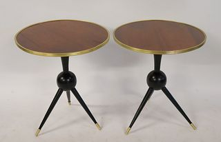 A Pair Of Midcentury Style Rosewood Tables