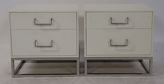 A Pair Of Lawson Fenning Lacquered 2 Drawer Night