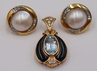 JEWELRY. Assorted 14kt Gold Jewelry.