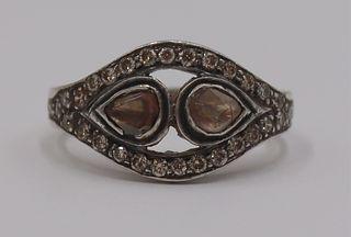 JEWELRY. Polki Diamond and Silver Ring.