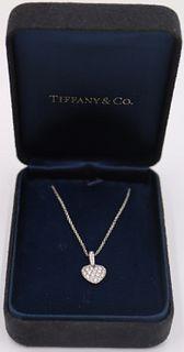 JEWELRY. Tiffany & Co Platinum & Diamond Necklace.