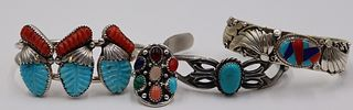 JEWELRY. Grouping of Silver Southwest Jewelry.