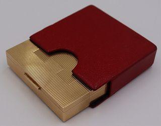JEWELRY. 14kt Gold Hinged Vanity Box.